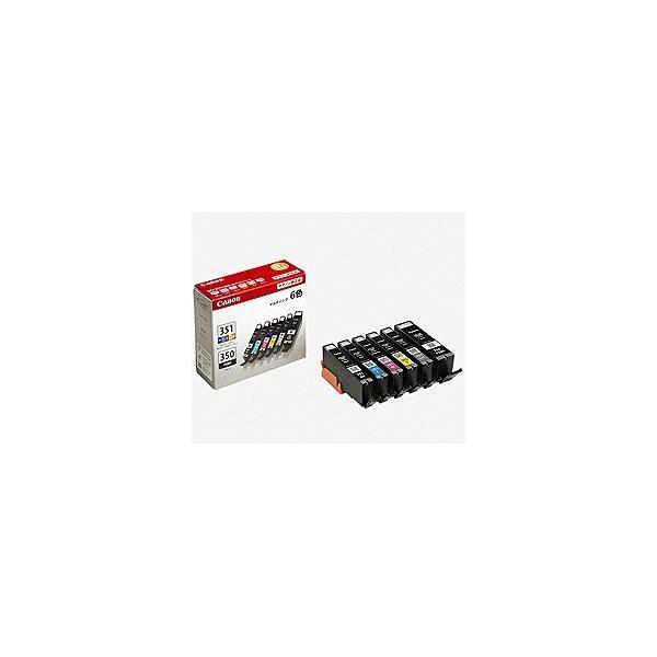 CANON 純正インクタンク 6色マルチパック 標準 BCI-351+350/6MP キヤノン|denkichiweb