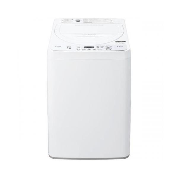シャープ SHARP 全自動洗濯機 5.5kg ホワイト系 ES-GE5D-W (宅配サイズ商品 / 設置・リサイクル希望の場合は別途料金および配達日・時間指定不可)
