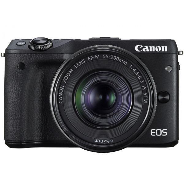 新品 Canon ミラーレス一眼カメラ EOS M3 ダブルレンズキット(ブラック) EF-M18-55mm F3.5-5.6 IS STM EF-M22mm F2 STM 付属 EOSM3BK-WLK[在庫あり][即納可]