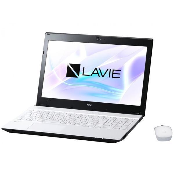 NEC PC-NS350HAW ノートパソコン LAVIE Note Standard クリスタルホワイト [15.6型 /intel Core i3 /HDD:1TB /メモリ:4GB /2017年7月モデル]の画像