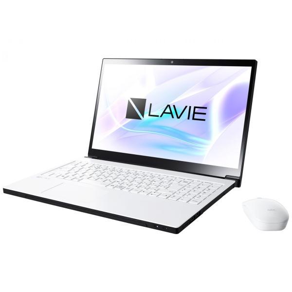 NEC PC-NX550JAW ノートパソコン LAVIE Note NEXT グレイスホワイト [15.6型 /intel Core i5 /HDD:1TB /メモリ:4GB /2017年10月モデル]の画像