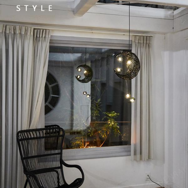 幻想的な月型 天井 ペンダントライト(白色LED) 吊下げ シーリングライト LED かわいい おしゃれ 吊り下げ照明 ホワイト P020|denraiasia|06