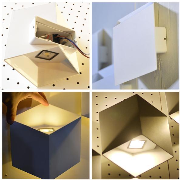 幾何学壁的照明ユークリライト 屋内 ブラケット ライト LED 照明 ウォール 壁 モダン おしゃれ トリック WL024-SET|denraiasia|06