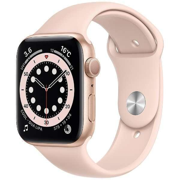 AppleWatchSeries6GPSモデル44mmピンクM00E3J/A新品