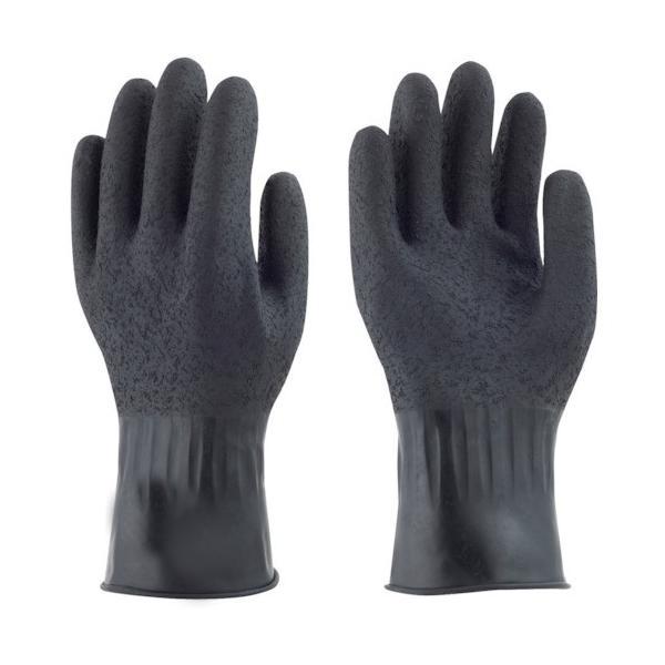 トラスコ中山 tr-4040422 トワロン 天然ゴム手袋 黒潮 LL (tr4040422)