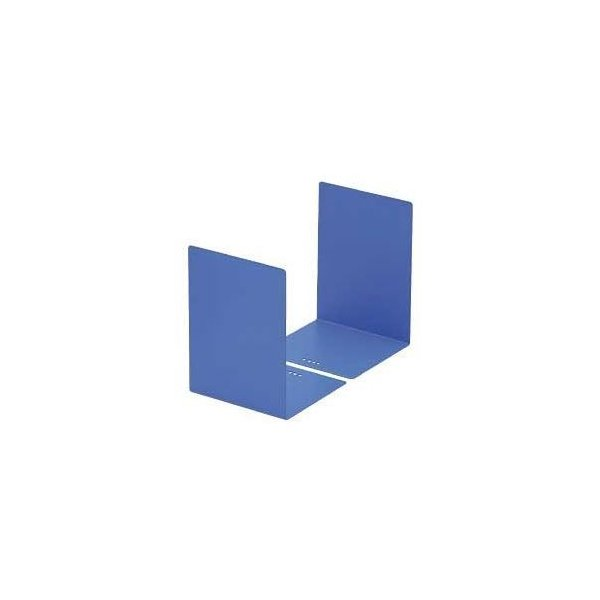 ds-1641397 (まとめ) カール L型ブックエンド 2枚組 ブルー 【×5セット】 (ds1641397)