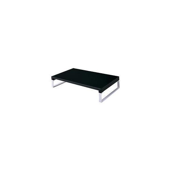 ds-1644702 (まとめ) 机上台 幅39×高さ8cm 黒 【×2セット】 (ds1644702)
