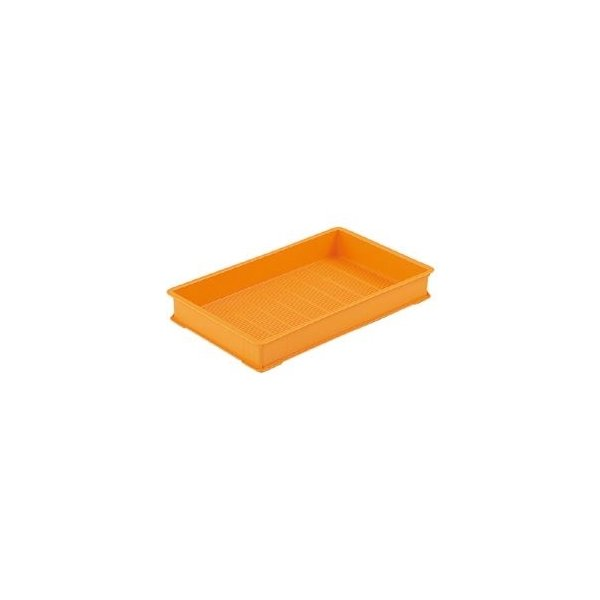 ds-1646214 三甲(サンコー) 麺用コンテナボックス 【袋入り生麺 保管・配送用】 3型-K オレンジ (ds1646214)