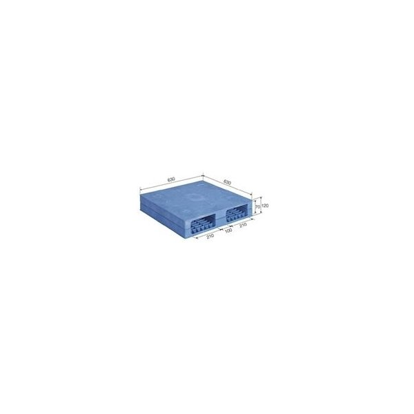 ds-1647287 三甲(サンコー) プラスチックパレット/プラパレ 【両面使用型】 窯業向けパレット 段積み可 R-606 F ブルー(青) (ds1647287)