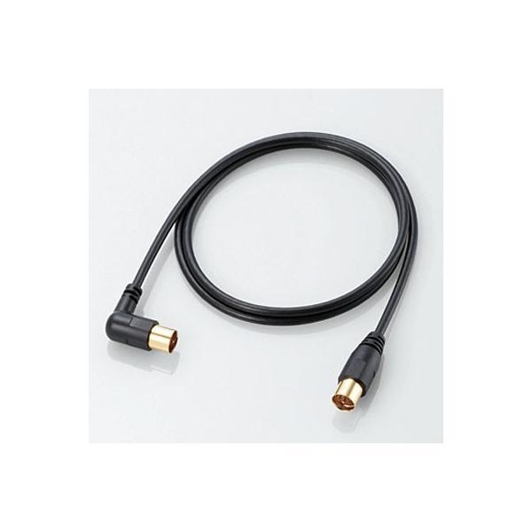 エレコム AV-ATLS50BK アンテナケーブル/L-S型/5m/ブラック (AVATLS50BK)