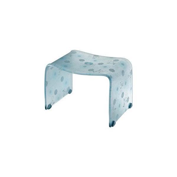 ds-2043654 ロマンチック バスチェア/風呂椅子 【Mサイズ ペールブルー】 脚ゴム付き 『フィルロ シュシュ』【代引不可】 (ds2043654)