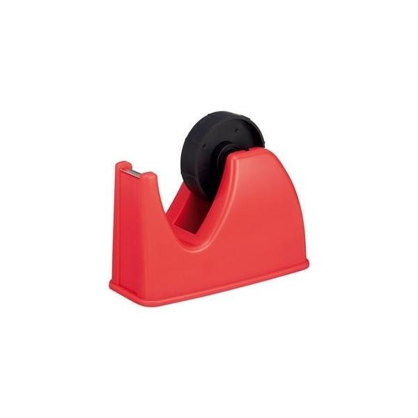 ds-2237039 (まとめ) TANOSEE テープカッター台 大巻・小巻両用 赤 1台  【×30セット】 (ds2237039)