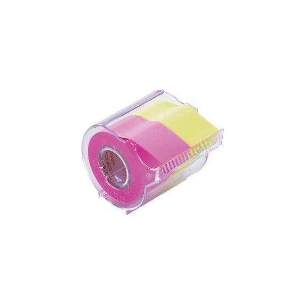 ds-2237083 (まとめ) ヤマト メモック ロールテープ カッター付 25mm幅 ローズ&レモン NORK-25CH-6A 1個  【×30セット】 (ds2237083)