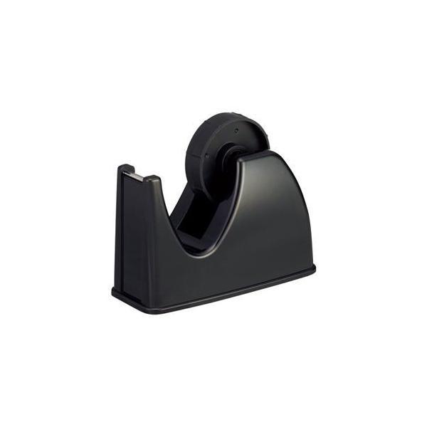 ds-2221386 (まとめ) TANOSEE テープカッター台 大巻・小巻両用 黒 1セット(10台)  【×5セット】 (ds2221386)