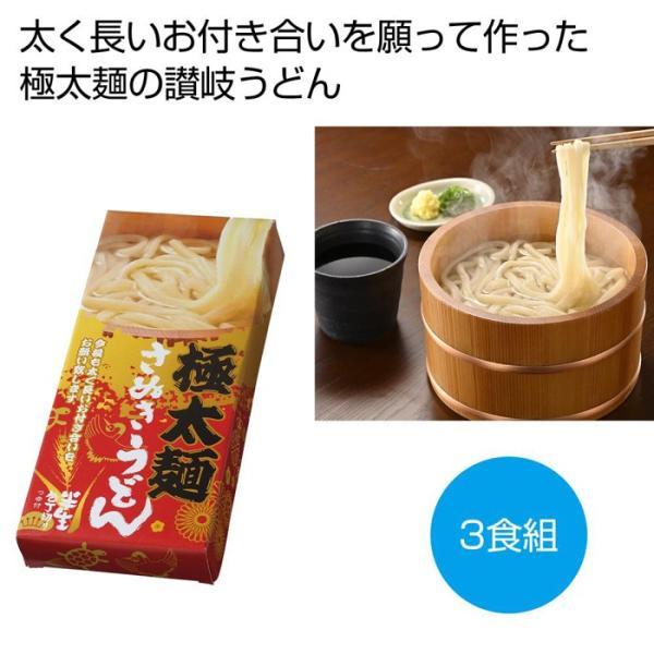 2560360 【30個セット】太く長いおつきあいを 極太麺さぬきうどん3食組