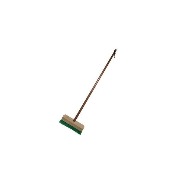 ds-2258319 デッキブラシ/掃除用品 【木柄 S 24cm】 木製柄付き 紐付き 耐薬品性 【20個セット】 (ds2258319)