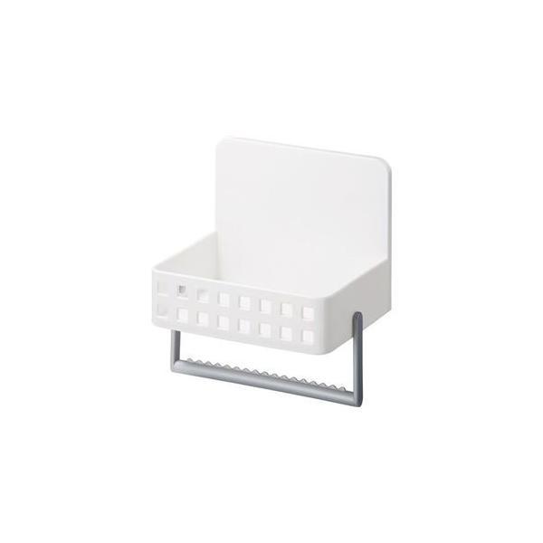 ds-2259861 (まとめ) 洗剤ラック/キッチン収納 【マグネット式】 タオルハンガー・吸盤付き ホワイト 『Mag-On』 【24個セット】 (ds2259861)