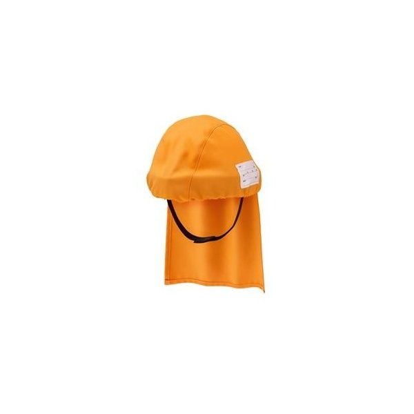 ds-2275941 避難用簡易保護帽 でるキャップ for kids オレンジ(子供用) DCFK-OR-01 (ds2275941)