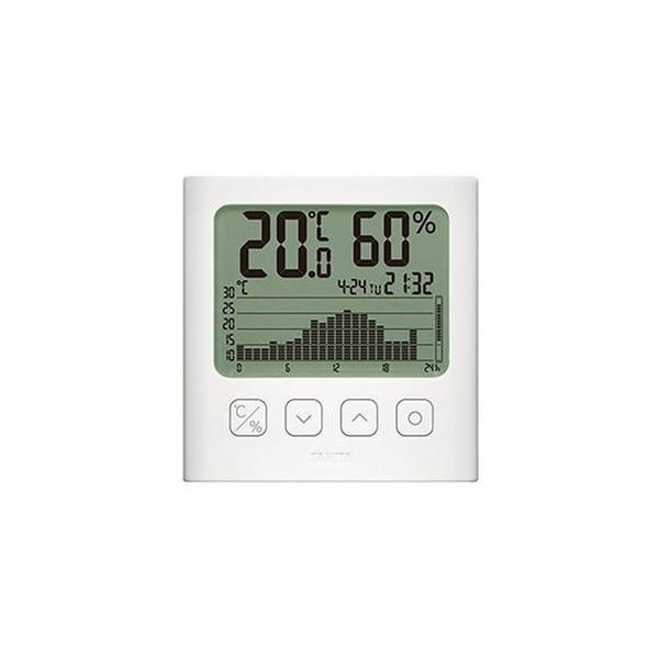 ds-2311865 (まとめ)タニタ グラフ付きデジタル温湿度計ホワイト TT-580-WH 1個【×3セット】 (ds2311865)