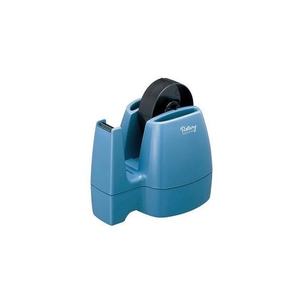 ds-2292827 コクヨ テープカッター<ロータリー> W113×D160×H147mm 青 T-M13NB 1セット(10台) (ds2292827)