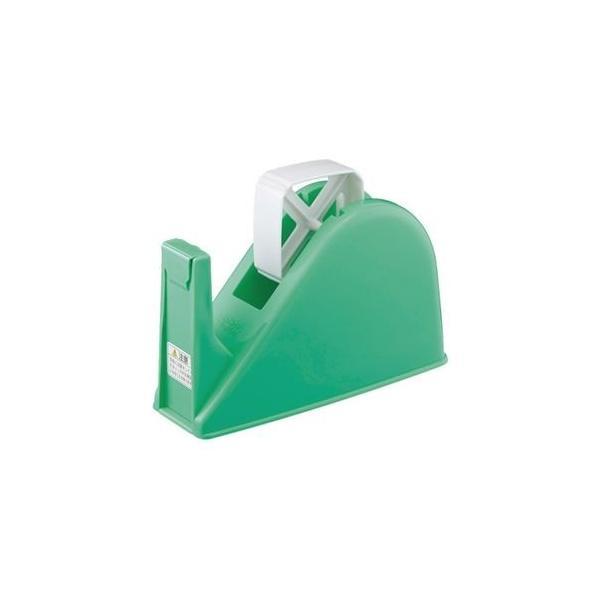 ds-2292830 コクヨ テープカッターW77×D175×H103mm 緑 T-M15G 1セット(10台) (ds2292830)