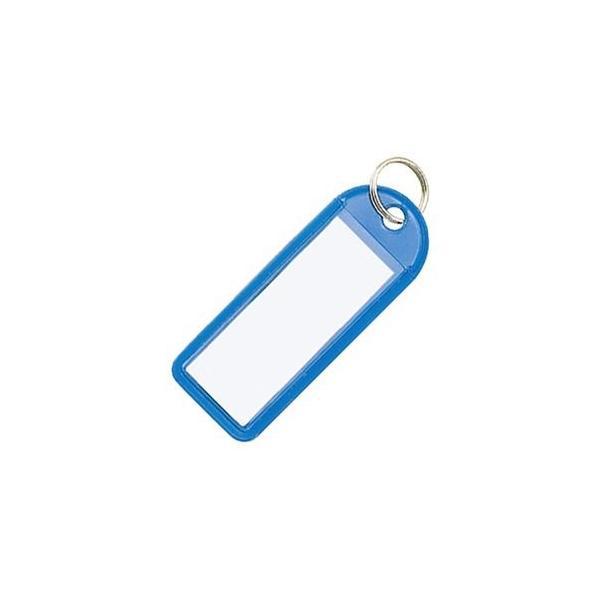 ds-2296172 (まとめ)コクヨ ソフトキーホルダー型名札カード寸法42×17mm 青 ナフ-225B 1セット(50個)【×2セット】 (ds2296172)