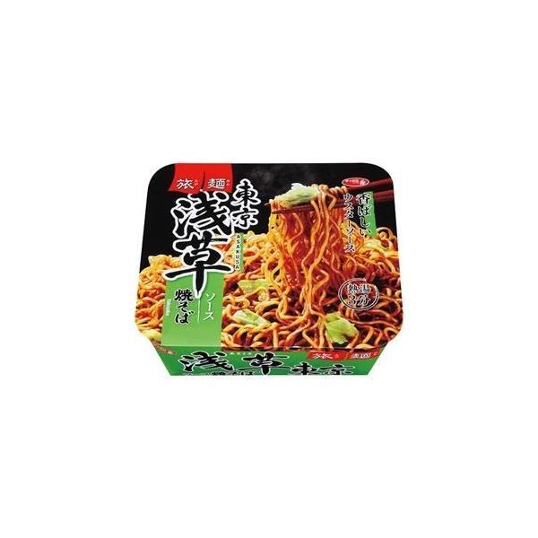 ds-2296317 (まとめ)サンヨー食品 サッポロ一番 旅麺 浅草ソース焼きそば 1ケース(12食)【×4セット】 (ds2296317)