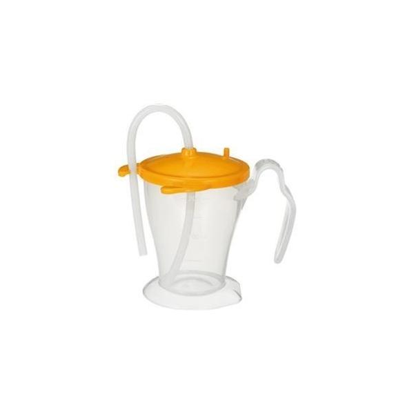 ds-2305573 (まとめ)オオサキメディカル プラスハートベッド柵にも掛けられる ストローカップ オレンジ 250ml 1個【×20セット】 (ds2305573)