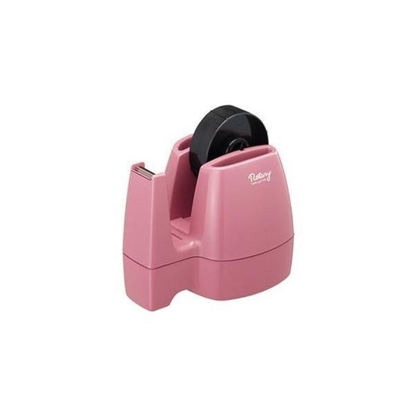 ds-2307636 (まとめ)コクヨ テープカッター<ロータリー> W113×D160×H117mm ピンク T-M13P 1台【×10セット】 (ds2307636)