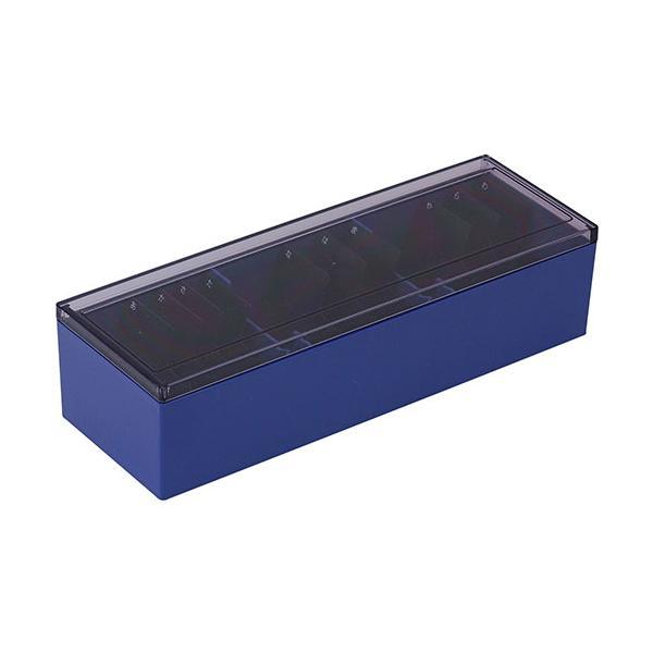 キングジム 4971660355600 名刺整理箱 青 75アオ (1個)