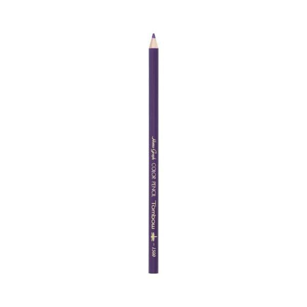 トンボ鉛筆 4901991001402 色鉛筆 1500 単色 すみれ色 1500-19 (12本)
