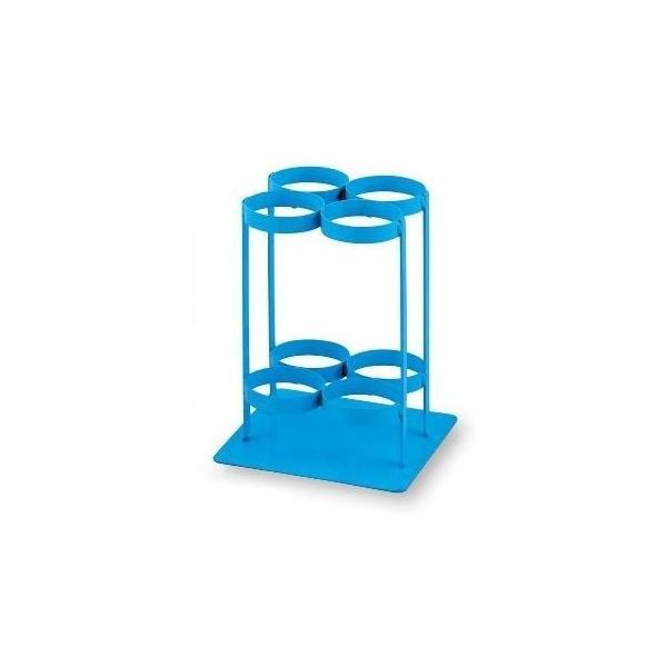 【納期目安:1週間】8-9691-03 酸素ボンベスタンド 280×280×370mm TM-S-504 ブルー (8969103)