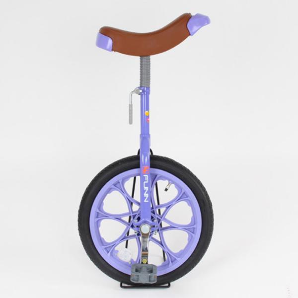 21Technology 4562320218726 一輪車 16インチ 子供用プレゼント スタンド付き (一輪車IR16-パープル)