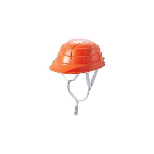 ds-2362858 (まとめ)加賀産業 防災用折りたたみヘルメット オサメット オレンジ KGO-8-1 1個 【×3セット】 (ds2362858)