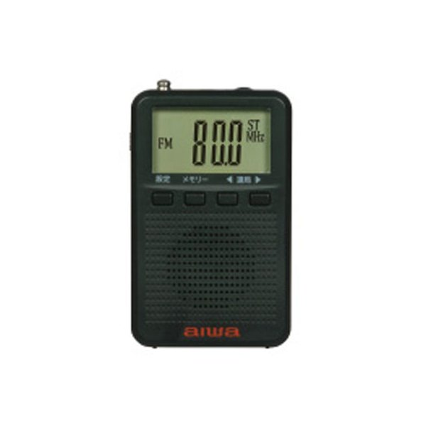 【納期目安:約10営業日】アイワ AR-DP35B 手のひらサイズでどこにでも持ち歩ける 災害時にも役立つ FMステレオ対応 デジタルポケットラジオ ブラック