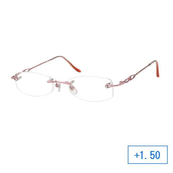 【納期目安:1週間】CMLF-1239557 パーフェクトシニアグラス 老眼鏡 RH-401 レディース +1.50 ピンク (CMLF1239557)