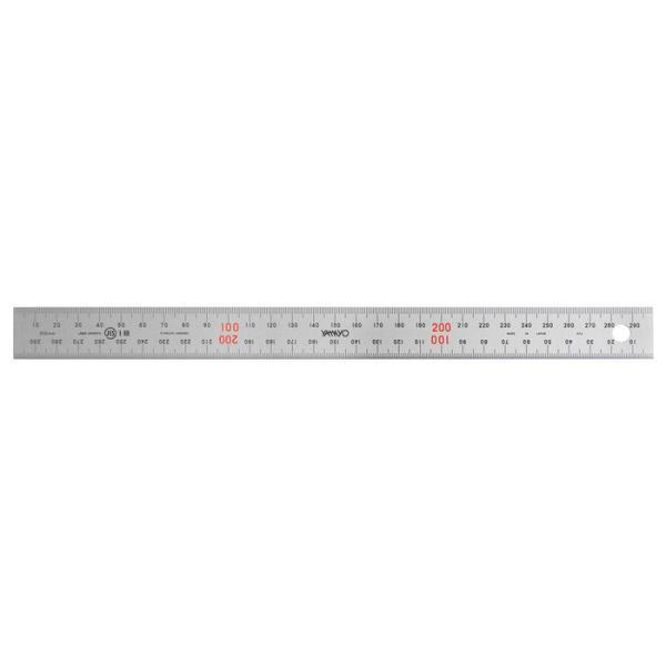 【納期目安:1週間】CMLF-1201523 ステンレス定規 ユニオン直尺 30cm型 1-831-0030 (CMLF1201523)