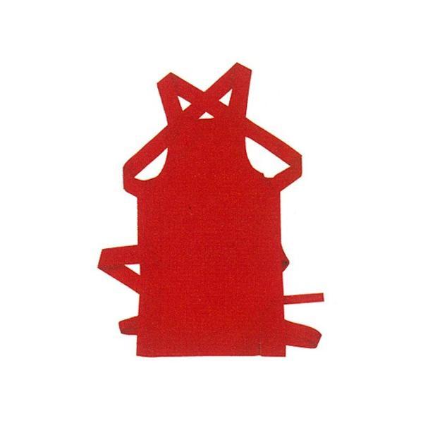 カラー腹掛(どんぶり) 赤 大人用 =お祭り衣装 大祭 祭禮 神輿 イベント=|dento-wako