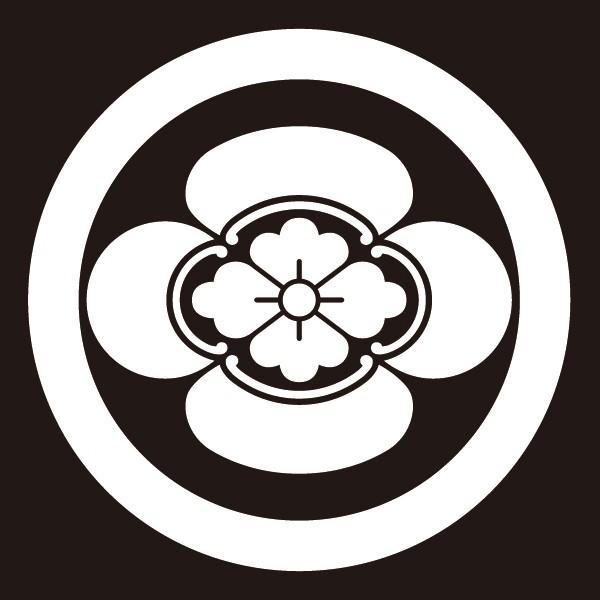 貼り紋 丸に横木瓜(シールタイプ6枚1組) =着物 羽織 家紋 紋付=|dento-wako