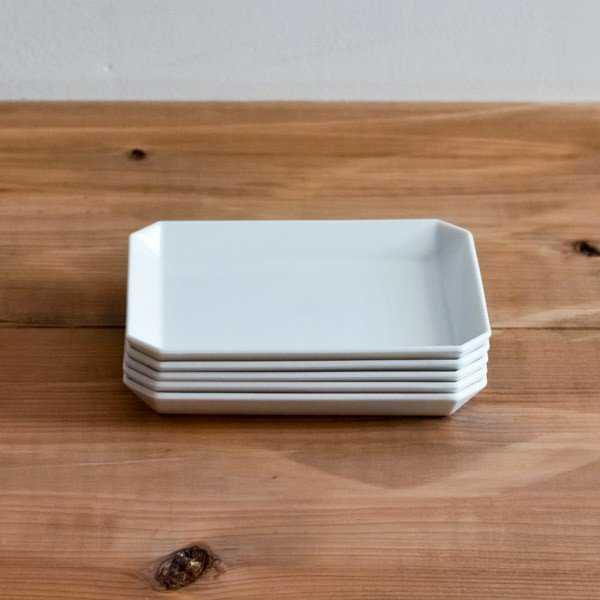 TY Square Plate White 90mm 5個セット ( 1616 / arita japan スクエアプレート 食器 ホワイト 小皿 おしゃれ 有田焼 結婚 出産 内祝い 引き出物 金婚式 )|dentouhonpo
