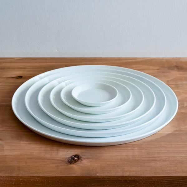 TY Round Plate White 6size set
