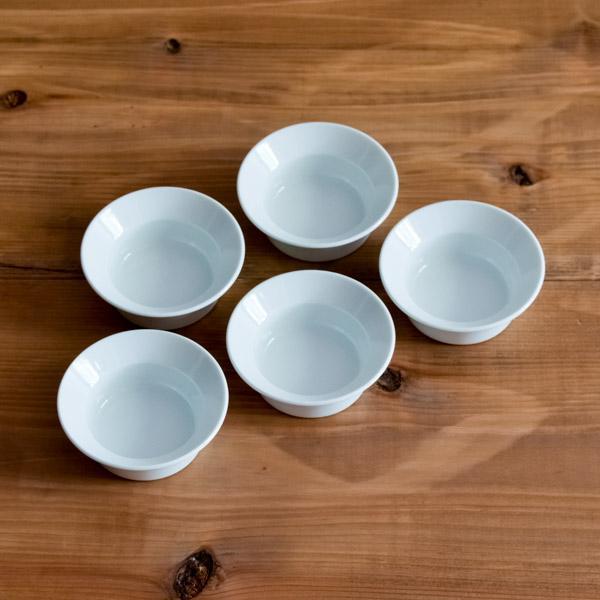 TY Round Deep Plate Plain White 80mm 5個セット ( 1616 / arita japan ラウンドディーププレート 食器 ホワイト 小鉢 小皿 有田焼 結婚 出産 内祝い )|dentouhonpo