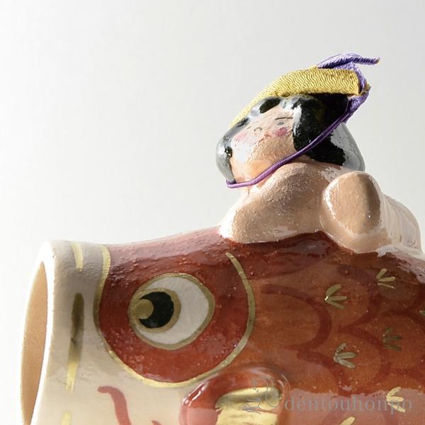 楽置物わんぱく兜・敷布付(名入れ可母の日プレゼント初任給プレゼント祖父母五月人形兜武者人形コンパクトこいのぼり人気清水焼京焼)