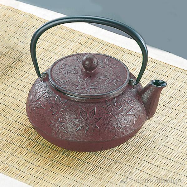 急須 カエデ えび茶 3型 茶こし付 ( 岩鋳 南部...