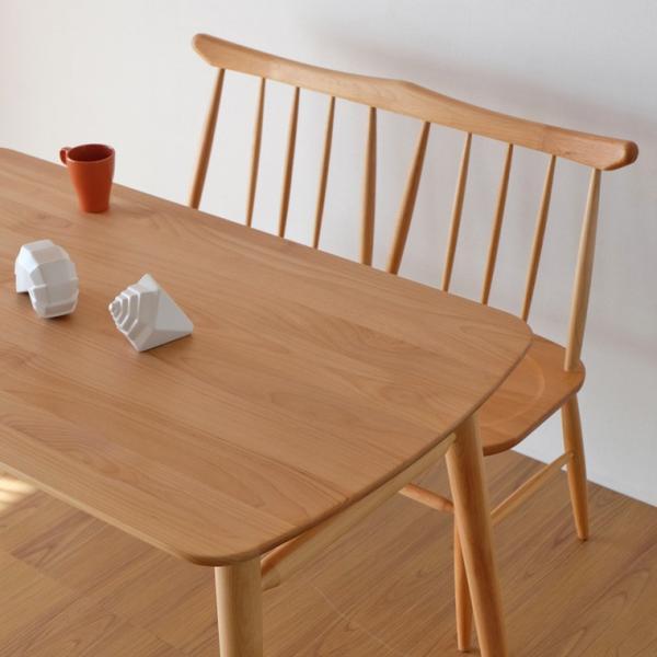 ダイニングセット 3点  ベンチ テーブル 背付きベンチ ノルン (IS)|denzo|02