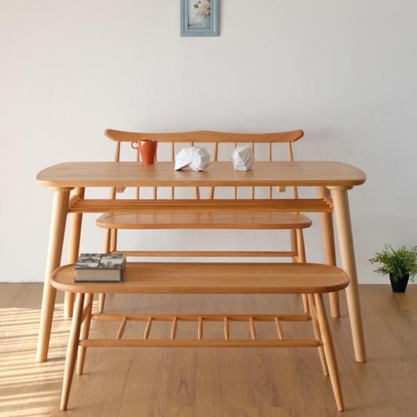 ダイニングセット 3点  ベンチ テーブル 背付きベンチ ノルン (IS)|denzo|03