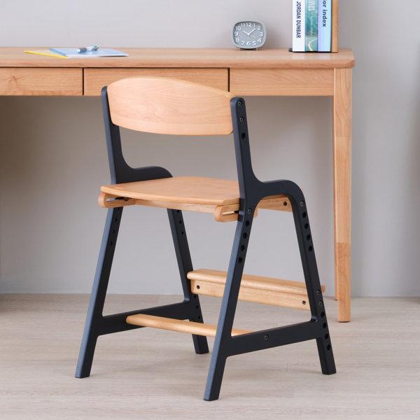 学習椅子 学習チェア イス いす 椅子 北欧 キッズチェア 高さ調整 木製 組立 エアリー デスク チェア(IS)|denzo|02