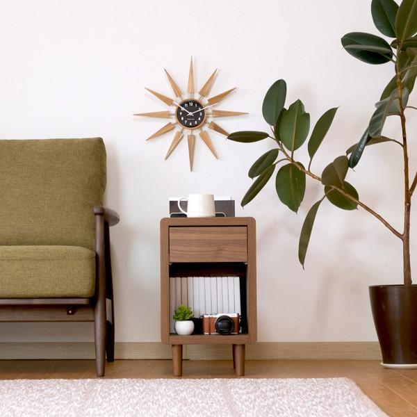 サイドテーブル おしゃれ テーブル 木製 北欧 クリップ ISSEIKI denzo 02