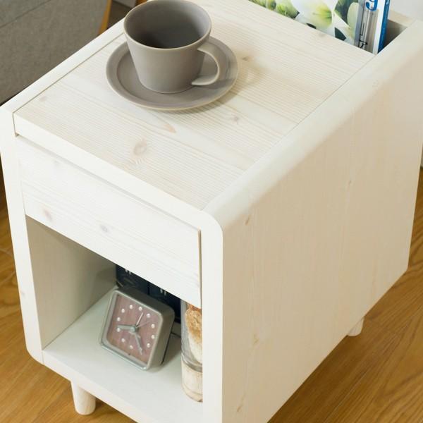 サイドテーブル おしゃれ テーブル 木製 北欧 クリップ ISSEIKI denzo 03
