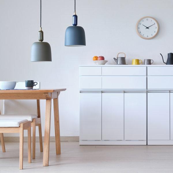 本日限定!!ポイント最大35倍!!キッチン収納 キッチン ダストボックス キャビネット 幅80 高さ90 カウンター  ホワイト パール 3D (IS)|denzo|02